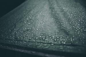 how to waterproof a canopy beaded water on material surface